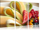 Colourful Fruit Bowl 3-Teiler Canvas Picture Wall Decoration Art Print
