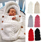 Kyпить Newborn Infant Baby Boy Girl Blanket Knit Crochet Warm Swaddle Wrap Sleeping Bag на еВаy.соm