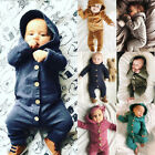 Kyпить US Xmas Autumn Infant Baby Boy Girl Cotton Hooded Romper Jumpsuit Clothes Outfit на еВаy.соm