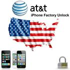 APPLE IPHONE X 8 7+ 7 6S+ 6S 6+ 6 5S 5C 5 4S 4 AT&T UNLOCK SERVICE