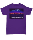 Los Angeles T-Shirt - Faded Image Blade Runner Font - Multiple Colors Available