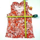 L, M Size Womens Shirt Basic Editions brand Ruffled Tank Top Red color NEW