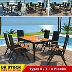 Poly Rattan Garden Furniture Dining Table And Chairs Set Outdoor Patio Chic Uk