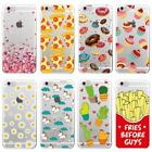 Cute Donuts Fries Hearts Unicorn Pizza Soft Clear Cover Case For iPhone Samsung