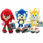 Sonic The Hedgehog Plush Knuckles Silver Tails Stuffed Teddy Bear Soft Toy Anime