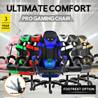 Gaming Chair Office Computer Seating Racing Pu Executive Massage Racer Recliner