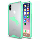 For Apple iPhone X XS Max XR Clear Shockproof Bumper Case Cover Horse with Rider