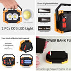 Rechargeable Portable LED Work Flood Spot Light Camping Outdoor Lamp Waterproof