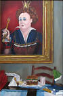 Signed David Wiemers The Burger Queen Painting Ladies Who Lunch Series San Diego