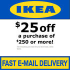 IKEA Coupon $25 Off $250 Valid on ANY Purchase In Store Exp 01/27/2019