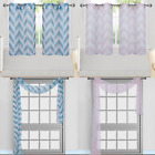 "1PC CHEVRON PANEL VOILE SHEER HALF WINDOW SMALL CURTAIN TREATMENT NEW 30""WX36"" L"