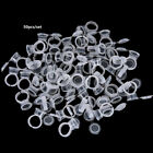 50pcs Pigment Tattoo Ink Cup Ring Holder Permanent Microblading Eyebrow Makeu fE