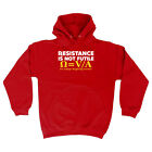 Funny Novelty Hoodie Hoody hooded Top - Resistance Not Is Futile Its Voltage Div