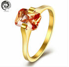 fashio Weeding Rings Gold Plated Ring Engagement Lady's Rings Square Rhinestone