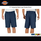 "DICKIES MENS 11"" Industrial Relaxed Fit Shorts Multi-Use Pocket Short Pant LR642"
