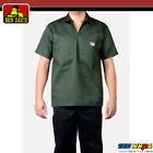 Ben Davis Mens Short Sleeve 1/2 Zip Shirts Pocket Stripe Solid Twill Half Zipper