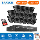SANNCE 16CH 1080N DVR 1500TVL 720P Outdoor Security Camera System IR Motion APP