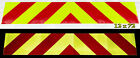 One Piece Chevron Panels - Highly Reflective Self Adhesive - Lime & Red