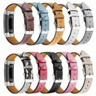 Fitbit Charge 3 Replacement Bands, Classic Genuine Leather Wristband Strap Bands