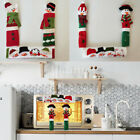 Christmas Refrigerator Door Handle Covers Kitchen Appliances Gloves Protector AB