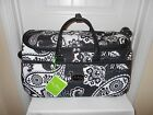 Vera BradIey NWTS Midnight Paisley Rolling Duffel Luggage Free shipping