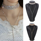 Fab Long dangly Bling Rhinestone Crystal Choker   (JCsd1)