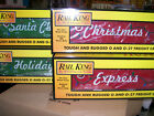 MTH 30-7095 CHTISTMAS 4 CAR 50' DOUBLE PLUG DOOR BOXCAR SET with LED LIGHTS