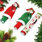 Protective Kitchen Appliance Christmas Refrigerator Handle Cover Fun Snowman