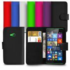 Premium Leather Wallet Case Cover For Microsoft Lumia 535 With Screen Guard