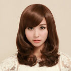 EE_ EG_ Women Medium Long Curly Wavy Hair Pear Head Full Wigs Cosplay Party Wig