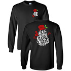 Let it Snow Christmas Monogrammed Long Sleeve T-Shirt