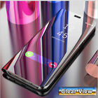 For Samsung  Phone S20 S21 Plus Ultra Smart View Mirror  Flip Stand Case Cover