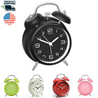 Twin Bell Alarm Clock Retro Vintage Style with Stereoscopic Dial Backlight