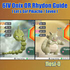 6IV Shiny Onix or Rhydon Pokemon Lets Go Guide [Lets Go P/E]