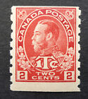 "CANADA #MR6ii MINT *OG CAT.$100 ROSE-CARMINE NOTE UNUSUAL LETTER ""S"" IN 2 CENTS"