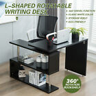 L-Shaped Computer Desk Laptop Corner Gaming Table Writing Study Workstation Home