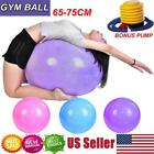 65/75 cm Yoga Ball Anti Burst Exercise Workout Stability with Air Pump image