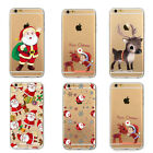 Christmas Case For iPhone Shockproof Clear TPU Cover Xmas Santa Claus Reindeer
