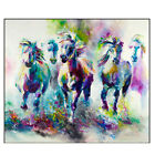 Current Animals Horse Oil Painting On Canvas Picture Home Living Room Wall Decor
