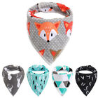 LX_ Baby Infant Toddler Triangle Bandana Bib Saliva Towel Head Scarf & Pacifie