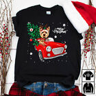 Merry Christmas Dog driving Jeep Shirt XMas Holiday Gift Ideas