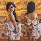 Princess Baby Girl Toddler Party Tutu Dress Pageant Wedding Birthday Gown Formal