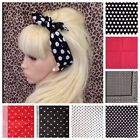 Kyпить POLKA DOT SPOT COTTON FABRIC SQUARE BANDANA HAIR NECK SCARF RETRO HEADBAND 50s на еВаy.соm