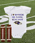 Baltimore Ravens Onesie Bodysuit Shirt Watching With Daddy on eBay