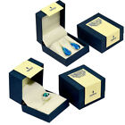 Elegant Blue and Ivory Jewelry Box Perfect for Rings,Earrings and Pendants