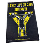 Gym Sweat Microfiber Sports Towel Bodybuilding Funny I Only Lift On Days Ending