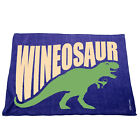 Kitchen Cooking Tea Towels - Wineosaur Wine Dinosaur - Cooking Cleaning