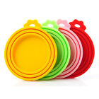 1Pc Pet Food Can Cover Lid Cat Dog Tin Silicone Reusable Storage Cap Top Plastic