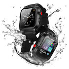 Waterproof Armor Case Cover+Silicone Band Strap+Screen Protector for Apple Watch image