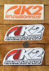 Lot Of 3 K2 Snowbaord Stickers Decals